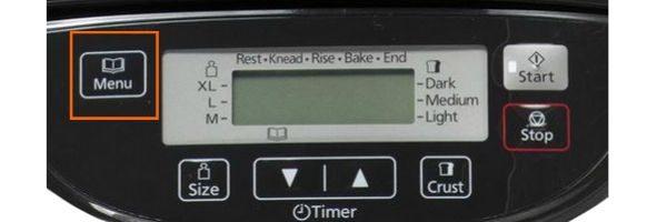 Panasonic SD-ZB2512KXE wybór programu do pieczenia