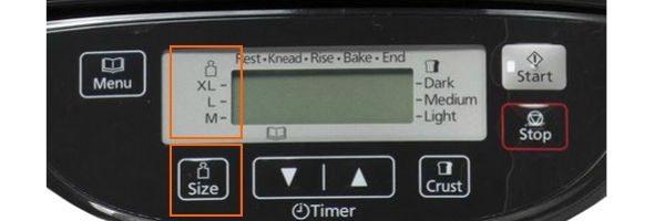 wypiekacz Panasonic wielkość wypieku